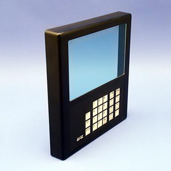 Gehäusefront mit Schutzglas und Tastatur