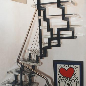 Treppenstufen aus Plexiglas